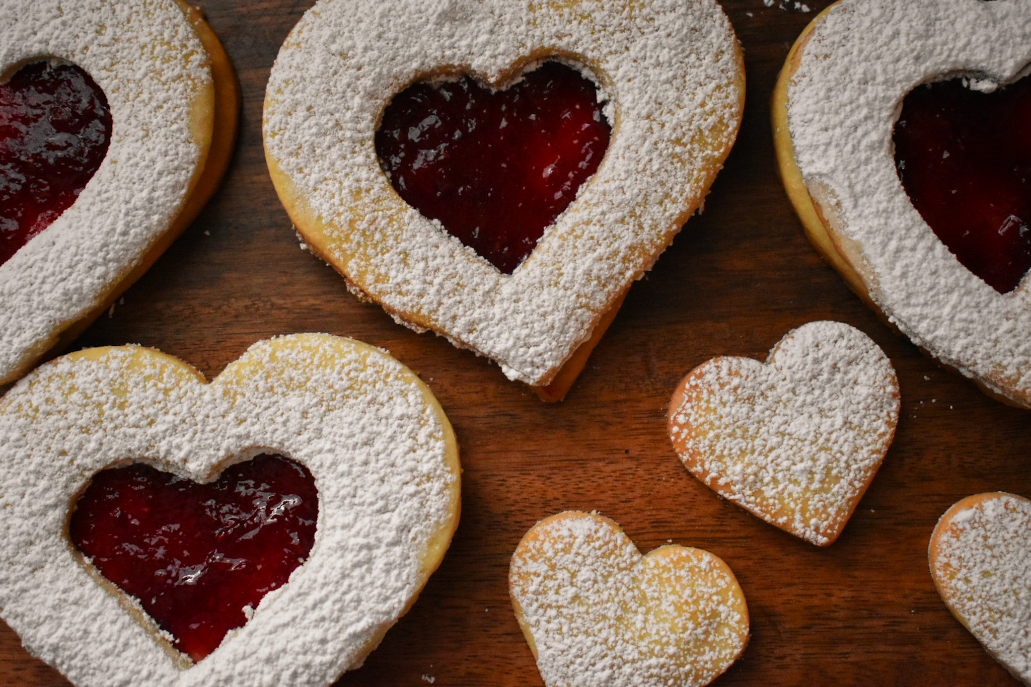 Heart-Shaped Raspberry Shortbread Cookies for Valentine's Day